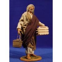 Pastor con cubo y caja 25 cm ropa y barro