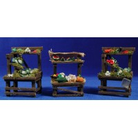 Banco verduras 11 cm madera