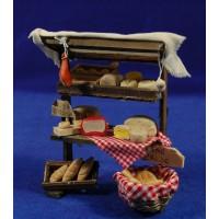 Banco quesos y embutidos 14 cm madera