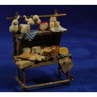 Banco quesos y panes 12 cm madera