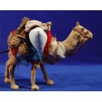 Camello movimiento 14 cm barro pintado
