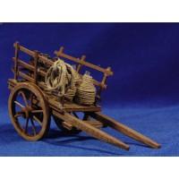 Carro vino 17 cm madera