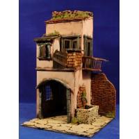 Casa con horno 42x25x25 cm corcho
