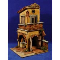 Casa con doble arco 33x20x20 cm corcho