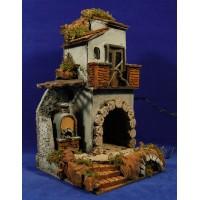Casa con horno 37x20x20 cm corcho