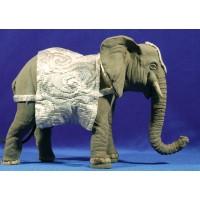 Elefante movimiento 14 cm barro pintado
