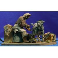 Herrador de caballo movimiento 12 cm ropa y barro