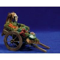Carro fruta 17 cm madera