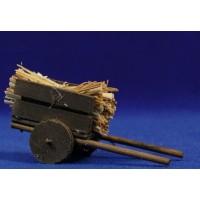Carro paja 9 cm madera
