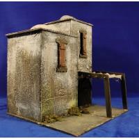 Casa hebrea con toldo 37x30x30 cm corcho