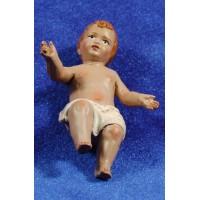 Niño Jesús 28 cm barro pintado
