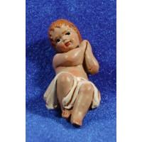Niño Jesús 18 cm barro pintado