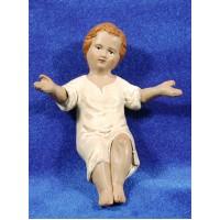 Niño Jesús con vestido 24 cm barro pintado