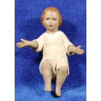 Niño Jesús con vestido 18 cm barro pintado