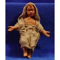 Niño Jesús M3 28 cm barro pintado