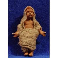 Niño Jesús con vestido M3 14 cm barro pintado