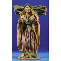 Pastor con leña 25 cm ropa y barro