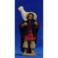 Pastor con cordero espalda 6 cm ropa y barro