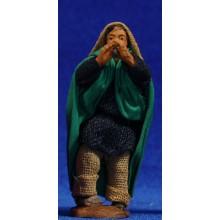 Pastor con flauta 6 cm ropa y barro