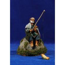 Pescador movimiento 12 cm ropa y barro