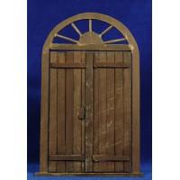 Puerta redonda 21 cm madera