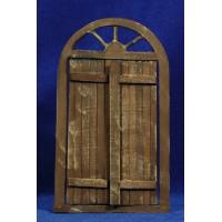 Puerta redonda 16 cm madera