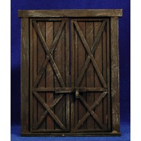Puerta ventana cuadrada 16 cm madera