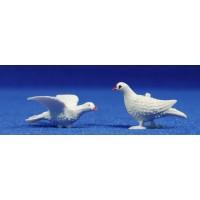 Conjunto 2 palomas 7 cm plástico Oliver
