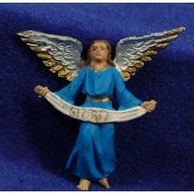 Ángel azul 7 cm plástico Oliver