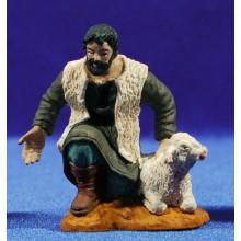 Pastor adorando con cordero 8 cm durexina Oliver