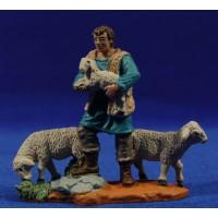 Pastor con corderos 8 cm durexina Oliver