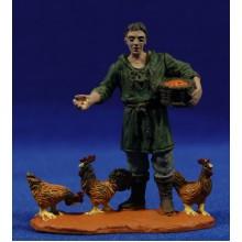 Pastor con gallinas 8 cm durexina Oliver