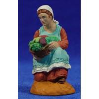 Pastora adorando con fruta 10 cm durexina Oliver