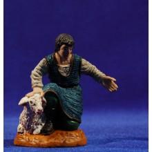 Pastor adorando con cordero 10 cm durexina Oliver