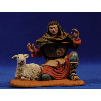 Pastor adorando con cordero 10 cm durexina amb roba Oliver