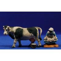 Pastora ordeñando vaca 10 cm durexina Oliver