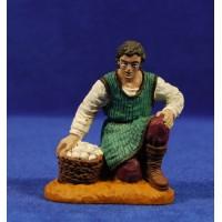 Pastor adorando con cesto huevos 12 cm durexina Oliver