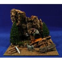 Escena pastor leñador en el bosque 10 cm durexina Oliver