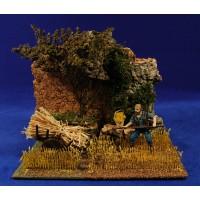 Escena pastor segador  en el campo con carro 10 cm durexina Oliver