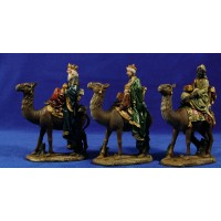 Reyes a camello 12 cm resina Oliver