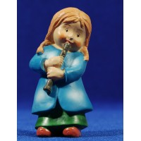 Pastora música flauta naïf 10 cm marmolina Oliver
