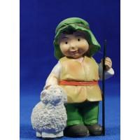 Pastor con cordero naïf 10 cm marmolina Oliver