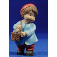 Pastor con cesto naïf 10 cm marmolina Oliver