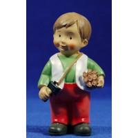 Pastor leñador naïf 10 cm marmolina Oliver