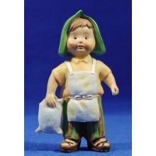 Pastor con saco harina naïf 10 cm marmolina Oliver