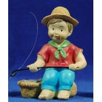 Pescador naïf 10 cm marmolina Oliver