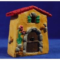 Casa naïf 13 cm marmolina