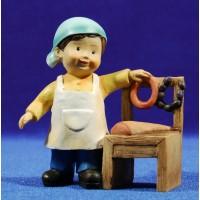 Pastor carnicero naïf 10 cm marmolina Oliver