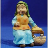 Pastora vendedora huevos naïf 10 cm marmolina Oliver