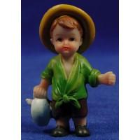 Pastora con cántaro naïf 7 cm marmolina Oliver